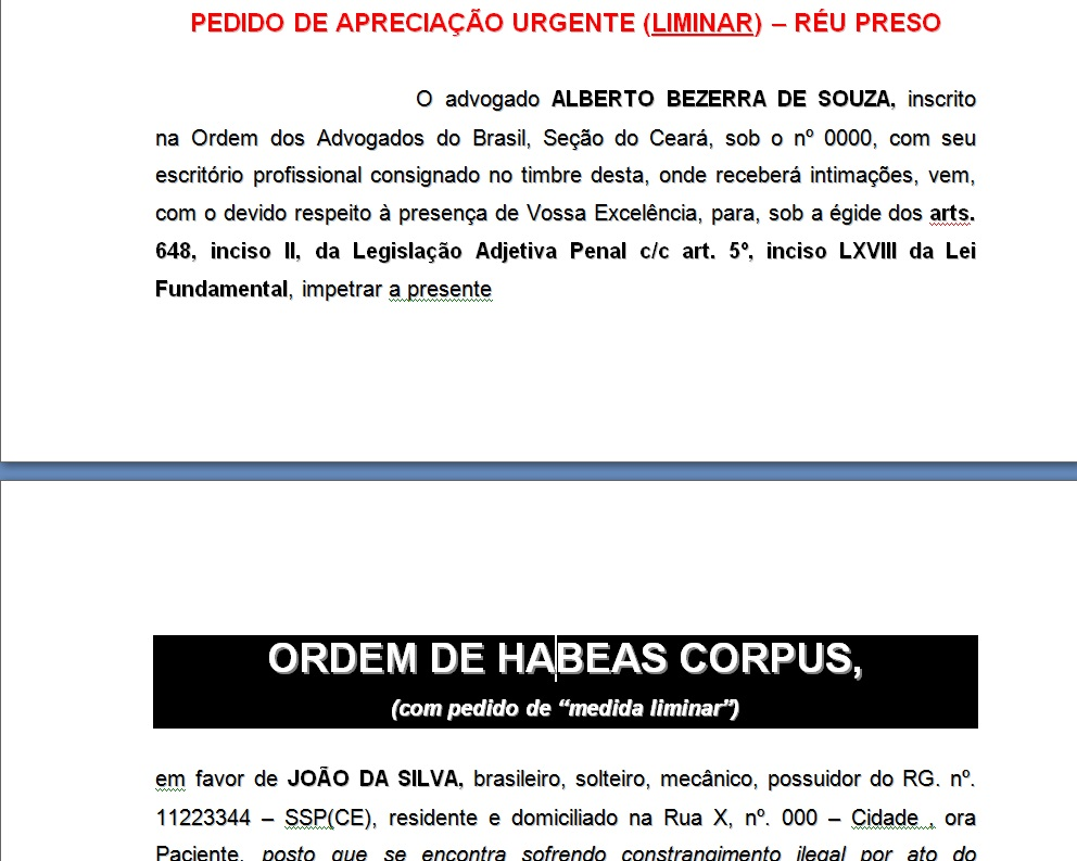 pratica-juridica-penal-modelo-habeas-corpus-pedido-medida-liminar-excesso-prazo-culpa