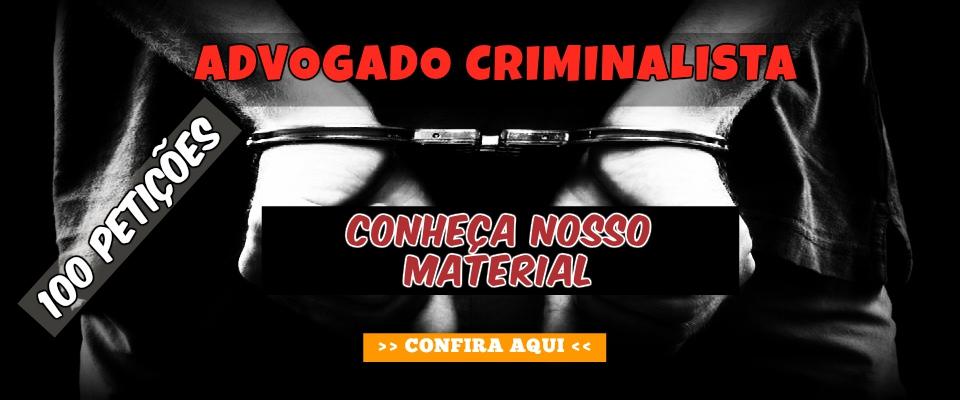 Seja um Advogado Criminalista - PETIÇÕES ONLINE
