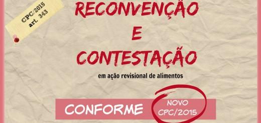Modelo de Reconvenção em Ação de Alimentos c/c Contestação no Novo CPC/2015