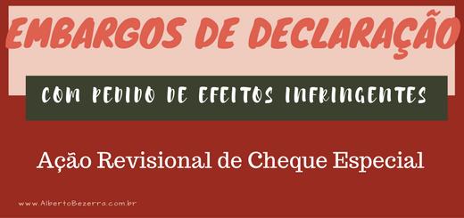 Embargos de Declaração em Ação Revisional Cheque Especial