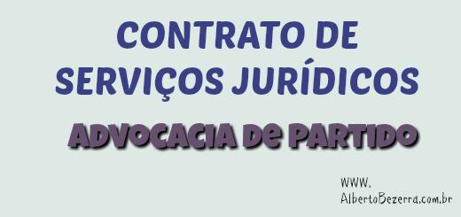 Modelo de contrato de honorários serviços jurídicos empresarial Advocacia de Partido