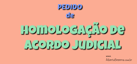 Novo CPC Pedido de homologação de acordo judicial 2